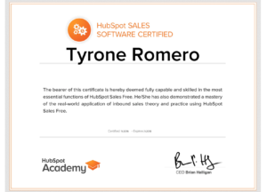 certificación en sales software